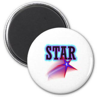 Star 2 Inch Round Magnet