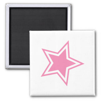 Star 2 Inch Square Magnet