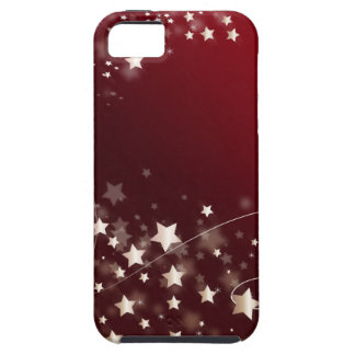 star-427749 DIGITAL RED WHITE SHINY STAR STARRY SK Case For iPhone 5/5S