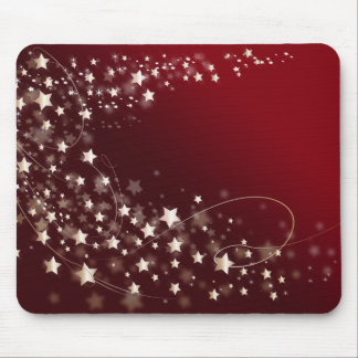 star-427749 DIGITAL RED WHITE SHINY STAR STARRY SK Mouse Pads