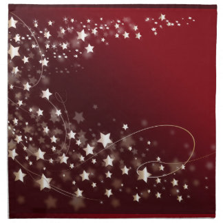 star-427749 DIGITAL RED WHITE SHINY STAR STARRY SK Cloth Napkins
