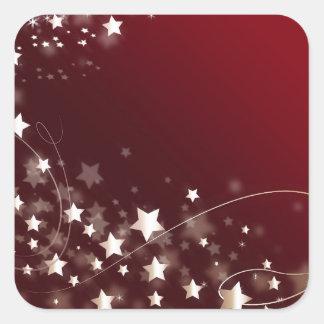 star-427749 DIGITAL RED WHITE SHINY STAR STARRY SK Sticker