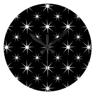 Star 5 Black and White Wall Clocks
