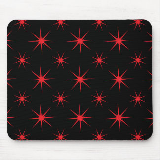 Star 5 Red Mouse Pad