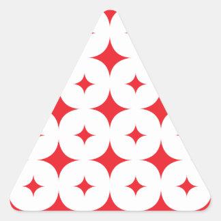 Star 7 Red Triangle Sticker