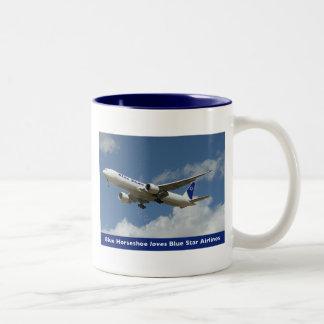 Star Airlines azul asalta Tazas