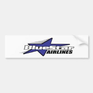 Star Airlines azul Pegatina De Parachoque