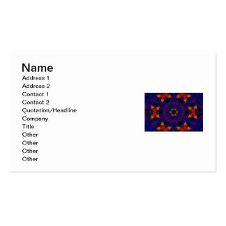 Star and Butterfly Mandala Business Card