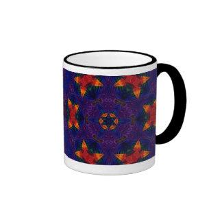 Star and Butterfly Mandala Ringer Mug