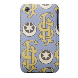 Star and Clef ecclesiastical wallpaper design iPhone 3 Case-Mate Case
