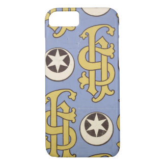 Star and Clef ecclesiastical wallpaper design iPhone 8/7 Case