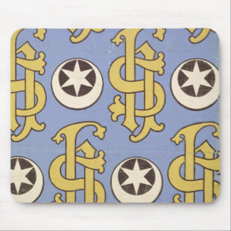 Star and Clef ecclesiastical wallpaper design Mouse Pad