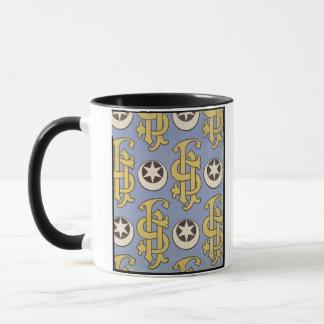 Star and Clef ecclesiastical wallpaper design Mug