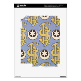 Star and Clef ecclesiastical wallpaper design Skin For iPad 3