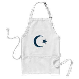 Star and Crescent Moon blue Adult Apron