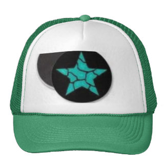 star and green color cup trucker hat