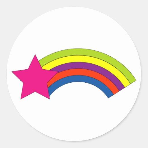 Star and Rainbow Sticker