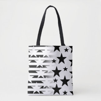 Star and Stripes All-Over-Print Tote Bag
