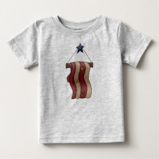 Star and Stripes Patriotic Hanging Banner Baby T-Shirt
