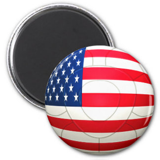 Star and Stripes - USA Soccer 2 Inch Round Magnet