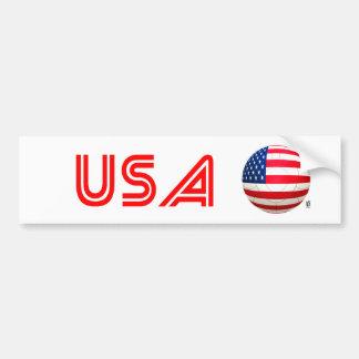 Star and Stripes - USA Soccer Bumper Sticker