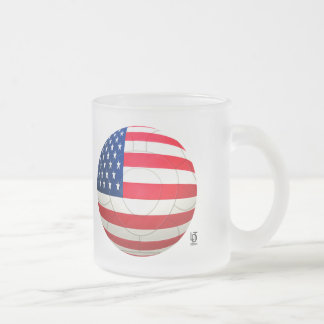 Star and Stripes - USA Soccer Frosted Glass Coffee Mug