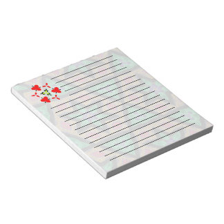Star and triangle colorful pattern notepad