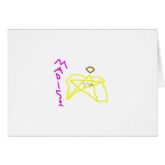 star angel2 greeting card