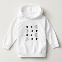 star arrow pattern hoodie