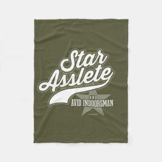 Star Asslete (Avid Indoorsman) Fleece Blanket