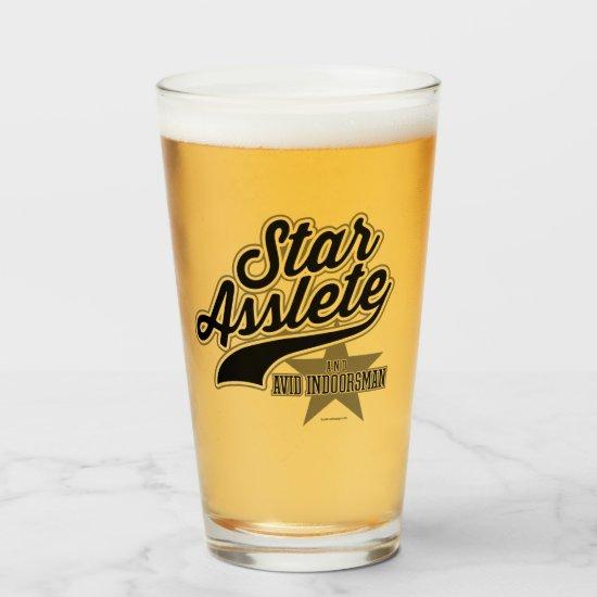 Star Asslete (Avid Indoorsman) Glas