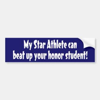 Star Athlete Car Bumper Sticker