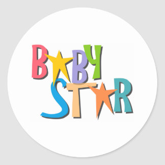 star_baby classic round sticker