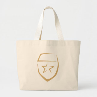 Star Badge for Police's Logo in Swish Drawing Tote Bag
