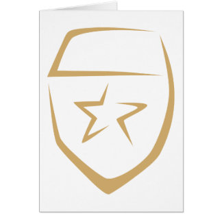 Star Badge for Police's Logo in Swish Drawing Cards