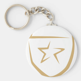 Star Badge for Police's Logo in Swish Drawing Keychain