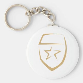Star Badge for Police's Logo in Swish Drawing Key Chains