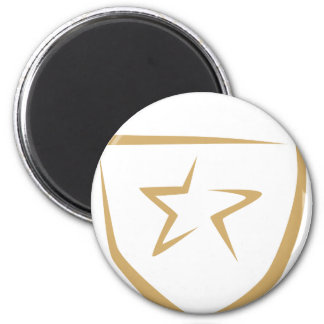 Star Badge for Police's Logo in Swish Drawing Magnet