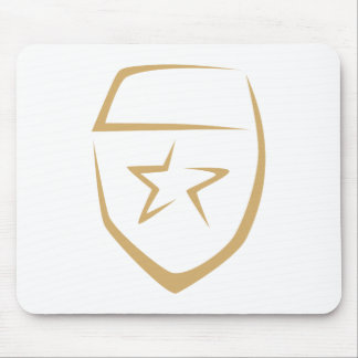 Star Badge for Police's Logo in Swish Drawing Mousepads