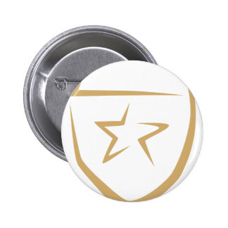 Star Badge for Police's Logo in Swish Drawing Pin