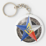 Star Badge Key Chain