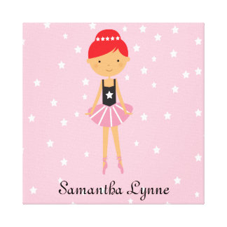 Star Ballerina with Red Hair Canvas Print