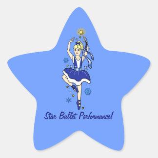 Star Ballet Performance in Blue Star Sticker