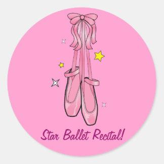 Star Ballet Recital Classic Round Sticker