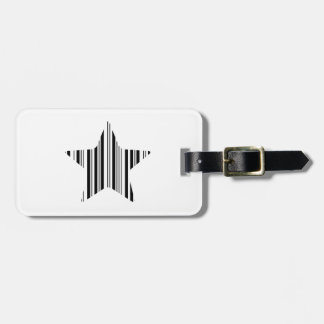 STAR BAR CODE Stellar Barcode Pattern Design Bag Tag
