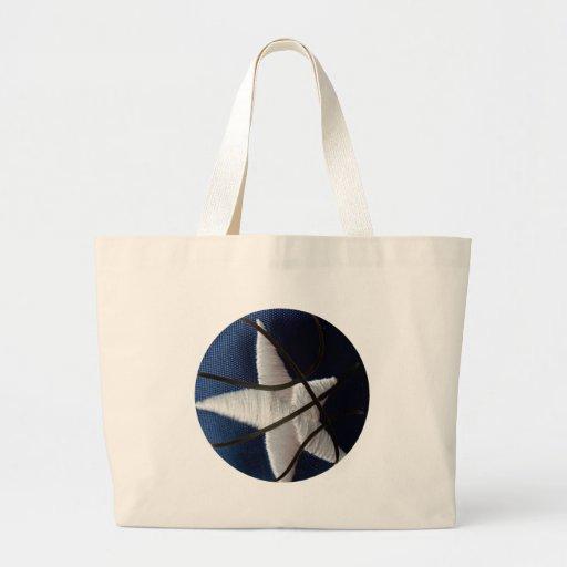 Star basket canvas bag