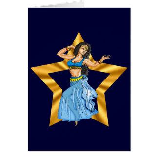 Star Belly Dancing Girl Greeting Card