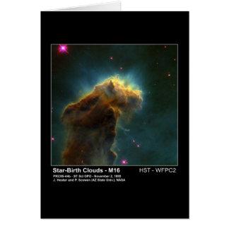 Star Birth Cloud M16 Hubble Telescope Photo Card