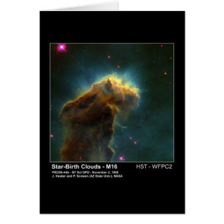 Star Birth Cloud M16 Hubble Telescope Photo Greeting Card