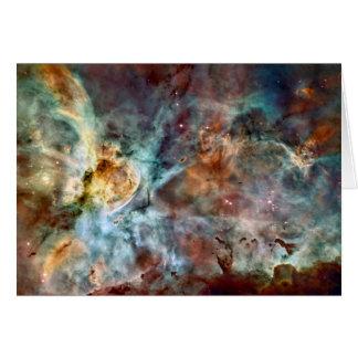 Star birth & death in the Carina Nebula Card